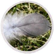 The Feather Round Beach Towel