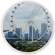 The Ferris Wheel 6 Round Beach Towel