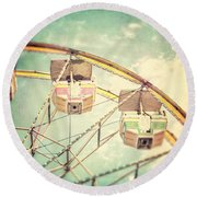 The Ferris Wheel Round Beach Towel