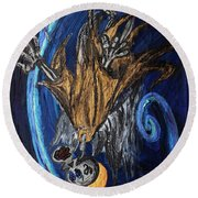 The Fffallen Angel Round Beach Towel