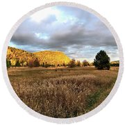 The Field Of Dreams Round Beach Towel