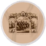 The Fifteenth Amendment And Its Results Round Beach Towel by War Is Hell Store