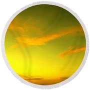 The Final Light Is Gold Round Beach Towel