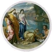 The Finding Of Moses Round Beach Towel