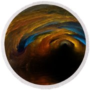 The Fire Caves Of Riagle Round Beach Towel