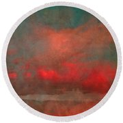 The Fire Clouds Round Beach Towel