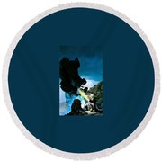The First King Of Shannara Keith Parkinson Round Beach Towel