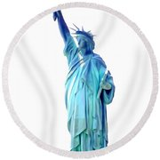 The First Lady Of Freedom Round Beach Towel