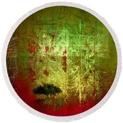 The First Tree Round Beach Towel