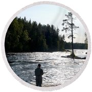 The Fisherman Round Beach Towel