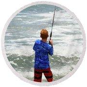 The Fisherman Round Beach Towel