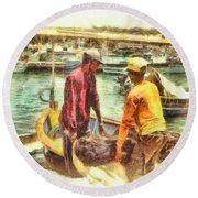 The Fishermen Round Beach Towel