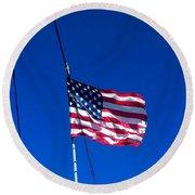 The Flag Of Usa  Round Beach Towel