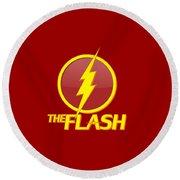 The Flash Logo Round Beach Towel