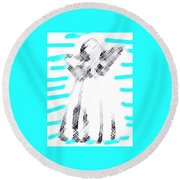 The Flash Of An Angel Round Beach Towel