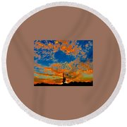 The Flavor Of The Sky Round Beach Towel