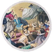 The Flight Of Father Dominic Round Beach Towel by English School