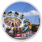 The Flipper At The Prater Round Beach Towel
