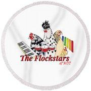 The Flockstars Round Beach Towel by Sarah Rosedahl