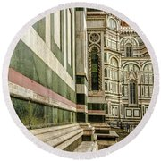 The Florence Cathedral Round Beach Towel