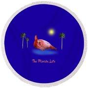 The Florida Life Round Beach Towel