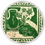 The Florist Round Beach Towel