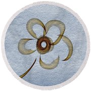 The Flower Round Beach Towel