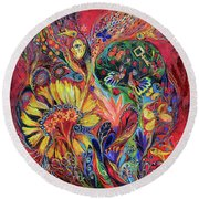 The Flowering Round Beach Towel