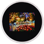 The Flowers Of Luxembourg Round Beach Towel