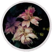 The Flowers Of Romance. Round Beach Towel