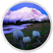 The Flowers Of Sunrise  Round Beach Towel