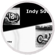 The Flying Frenchman Indy 500 1927 Leon Duray Round Beach Towel
