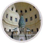 The Fontana Della Pigna In The Vatican City Round Beach Towel