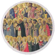 The Forerunners Of Christ With Saints And Martyrs Round Beach Towel