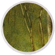 The Forest At Pontaubert, 1881 Round Beach Towel