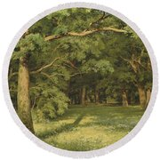 The Forest Clearing Round Beach Towel