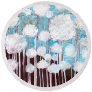 The Forest Of Fluff  Round Beach Towel