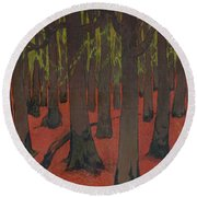 The Forest With Red Earth Painting By Georges Lacombe