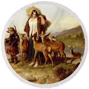 The Forester's Family Round Beach Towel