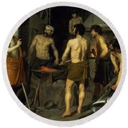 The Forge Of Vulcan Round Beach Towel