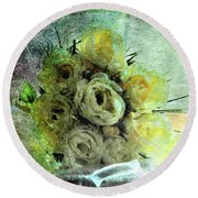 The Forgotten Flowers Round Beach Towel