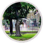 The Fountain For Youth Round Beach Towel