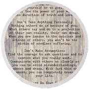 The Four Agreements 6 Round Beach Towel