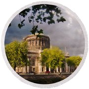 The Four Courts In Reconstruction Round Beach Towel
