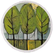 The Four Seasons - Summer Round Beach Towel