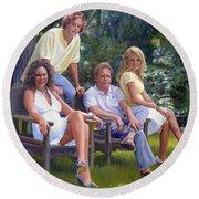 The Fraum Family Round Beach Towel