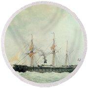 The French Battleship Round Beach Towel