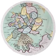 The French Invasion Round Beach Towel