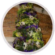 The French Thistle Tree Fashions For Evergreens Hotel Roanoke 2009 Round Beach Towel