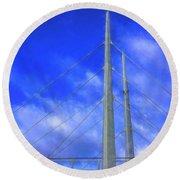 The Frienship Bridge Round Beach Towel